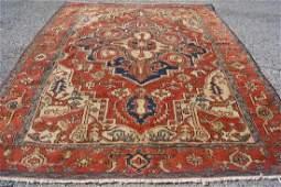 "Antique Hand Woven Persian Serapi Rug 4'10""X6'2"""
