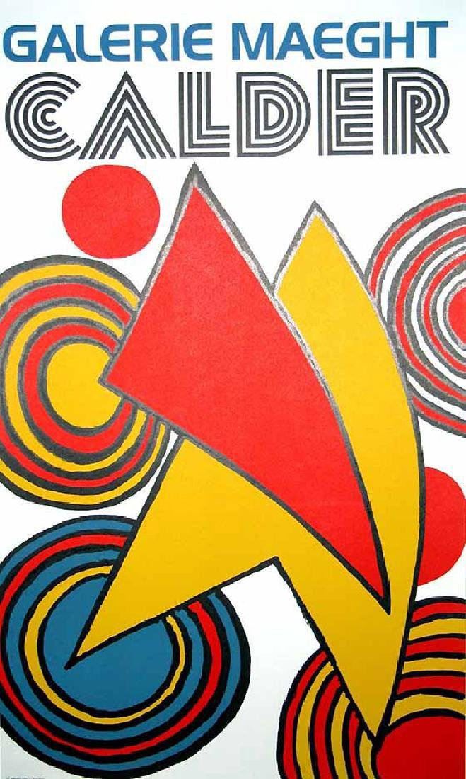 Alexander Calder Lithograph Triangles et Spirales