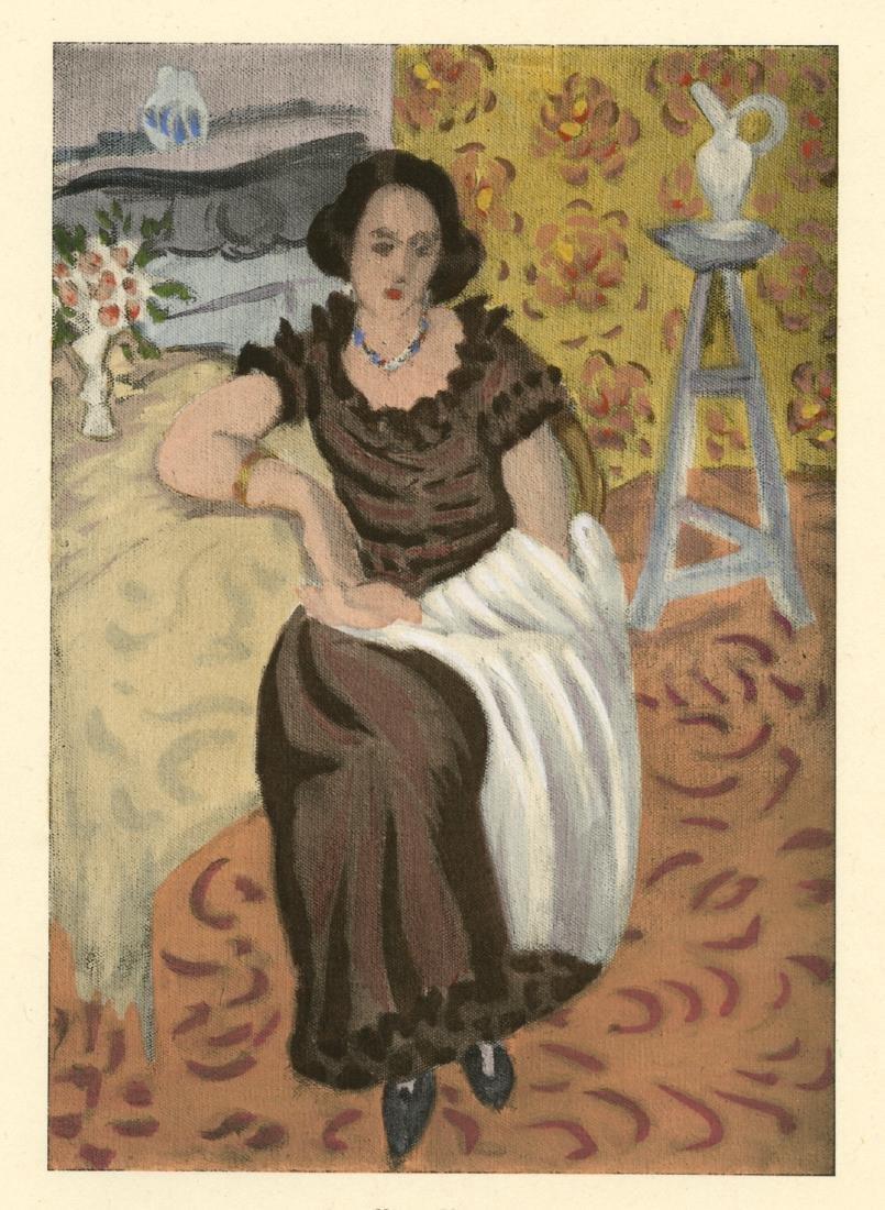 Henri Matisse Print Femme en robe brune