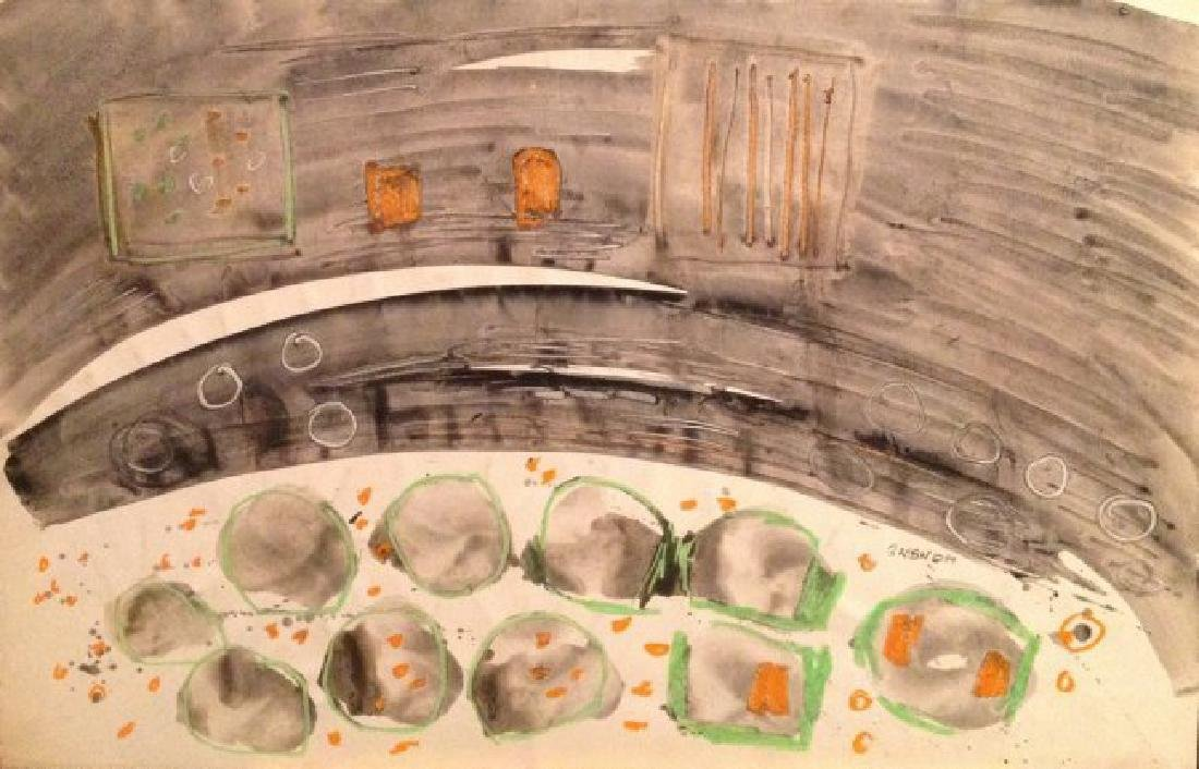 Charles Gassner Mixed Media Painting