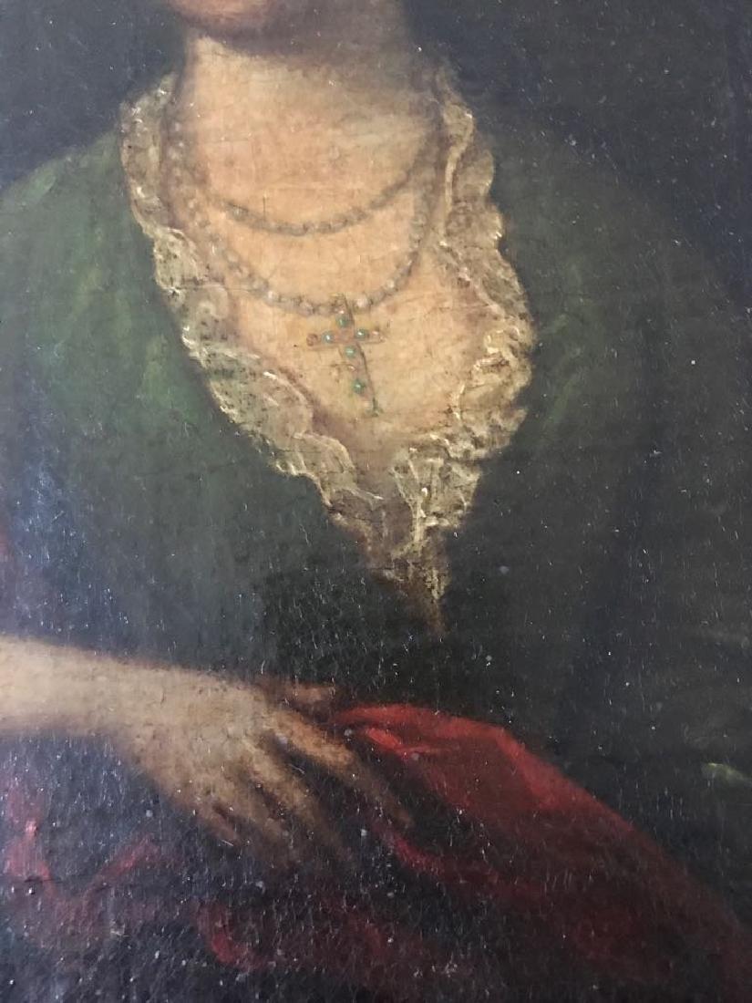 English 19th C Oil Painting Portrait - 3