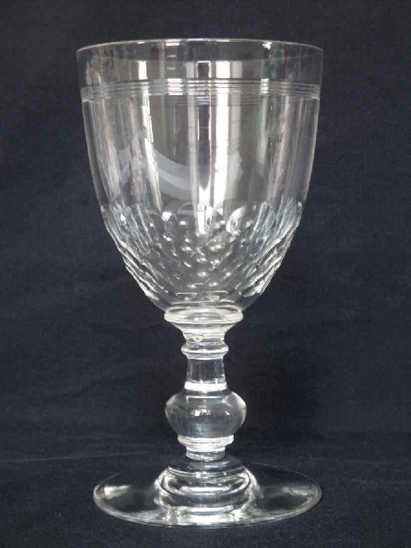 6 Wine Port Glasses Baccarat Crystal Glass Chauny - 3
