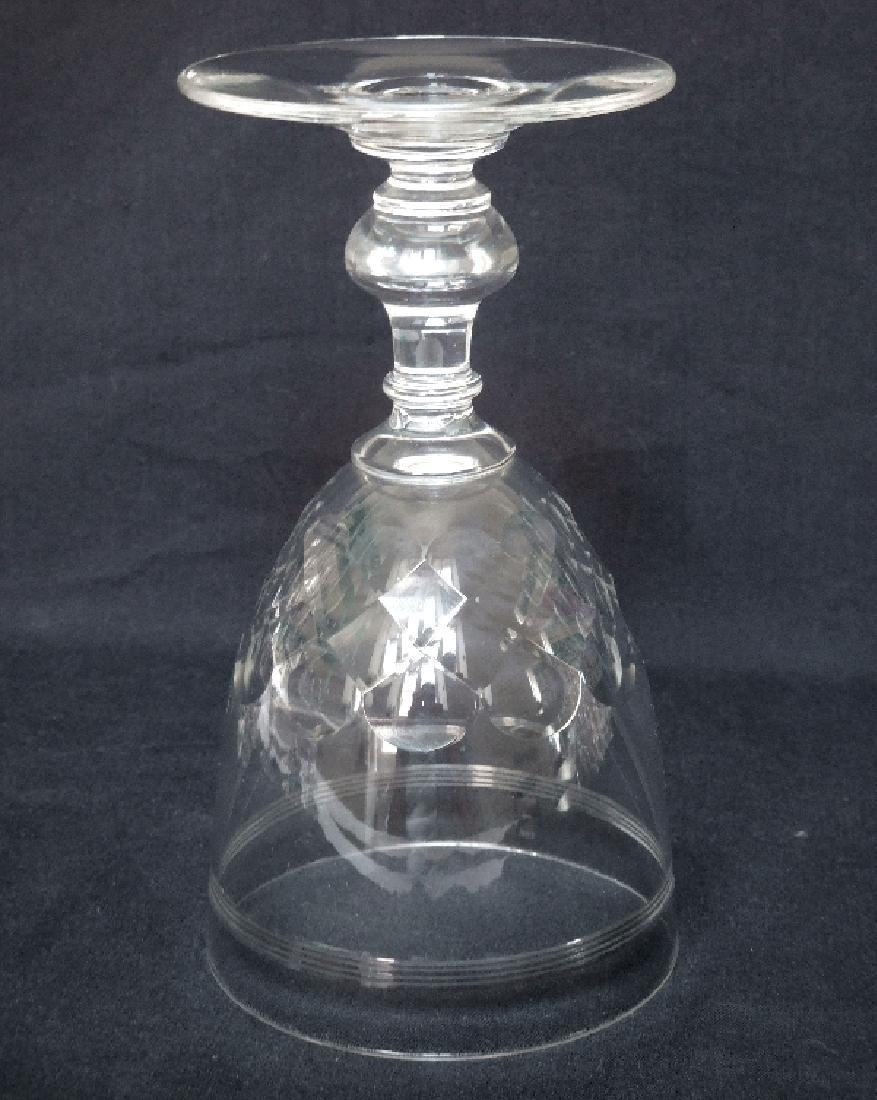 6 Wine Port Glasses Baccarat Crystal Glass Chauny - 5