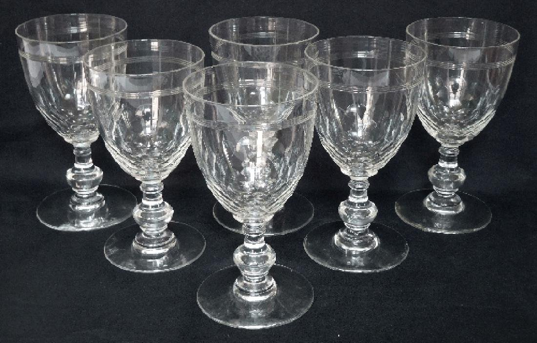 6 Wine Port Glasses Baccarat Crystal Glass Chauny - 6