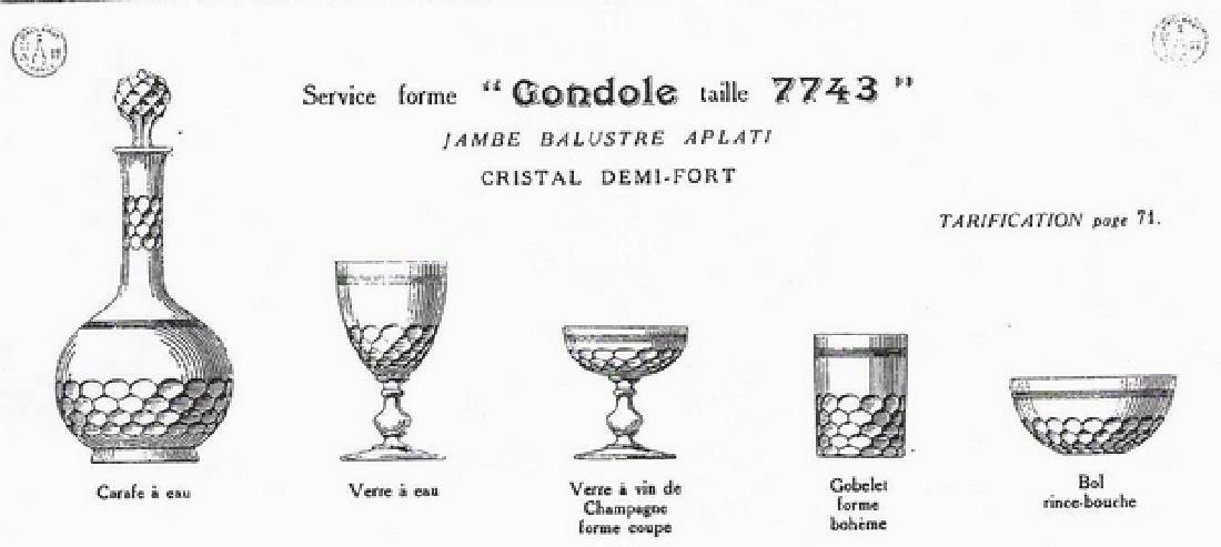 6 Wine Port Glasses Baccarat Crystal Glass Chauny - 7