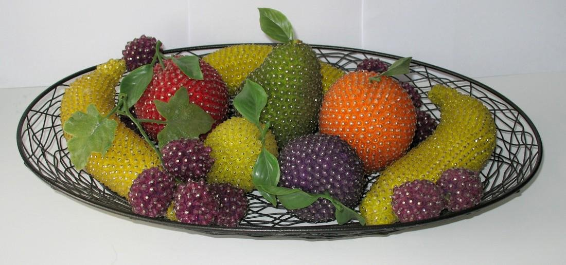 Collection of Mid-Century Modern Beaded Fruit