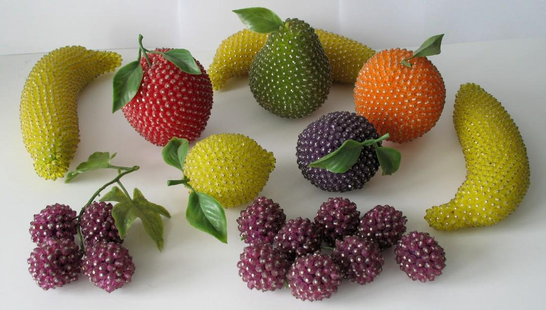 Collection of Mid-Century Modern Beaded Fruit - 2