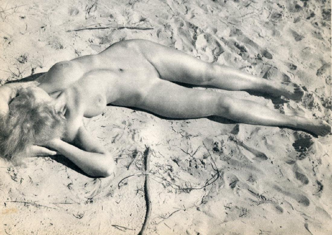 RAOUL HAUSMANN - Nude in the Sand