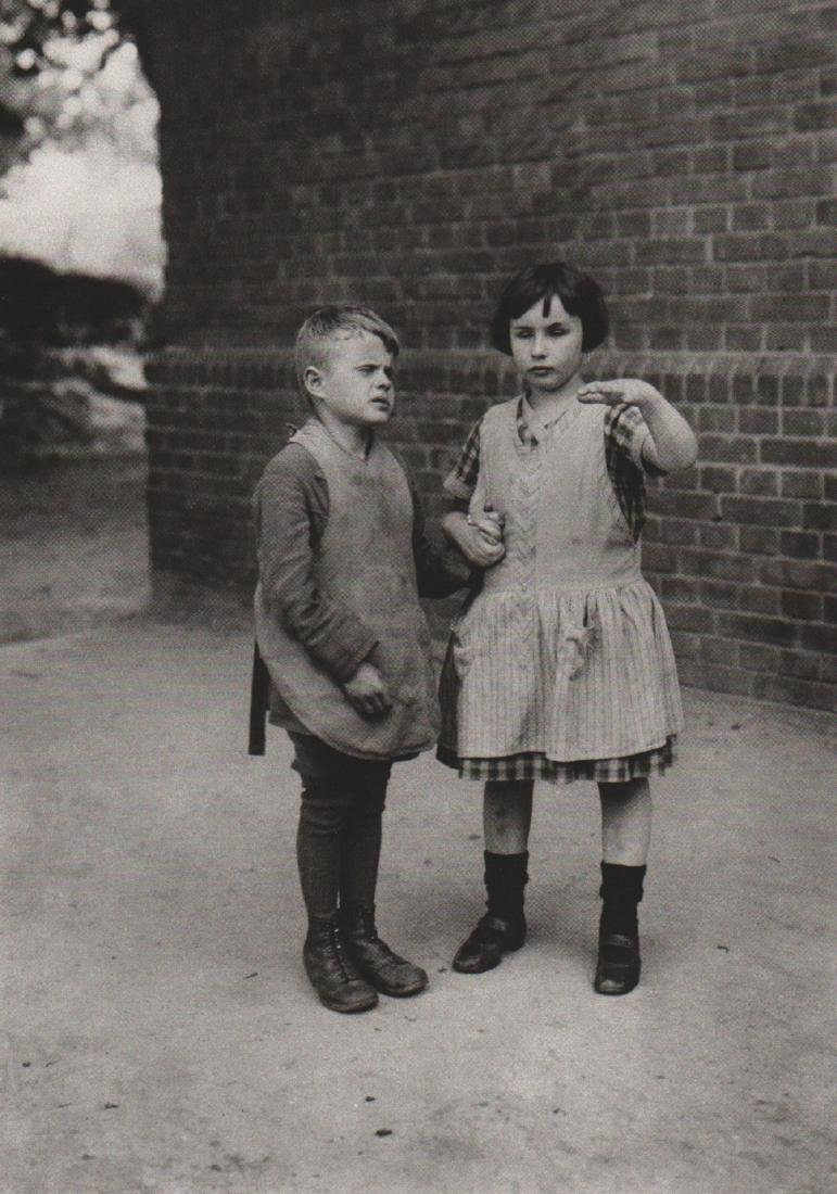 AUGUST SANDER - Children at an Institute for the Blind