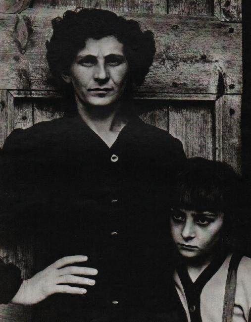PAUL STRAND - Postmistress & Daughter, Luzzara Italy