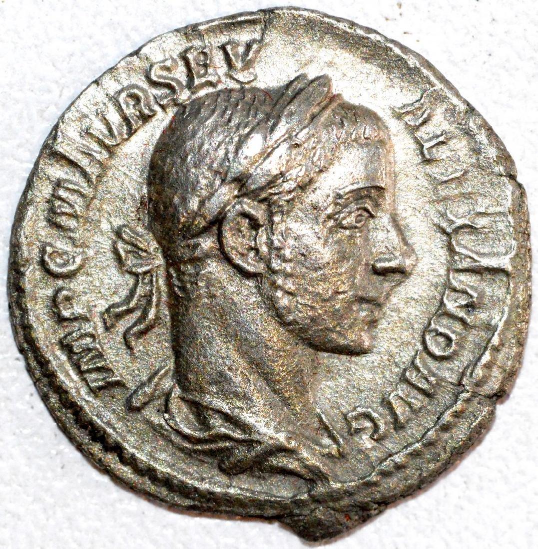 Roman Silver Denarius of Septimius Severus - Sharp