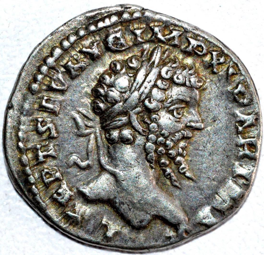 Rare Roman Silver Denarius of Septimius Severus