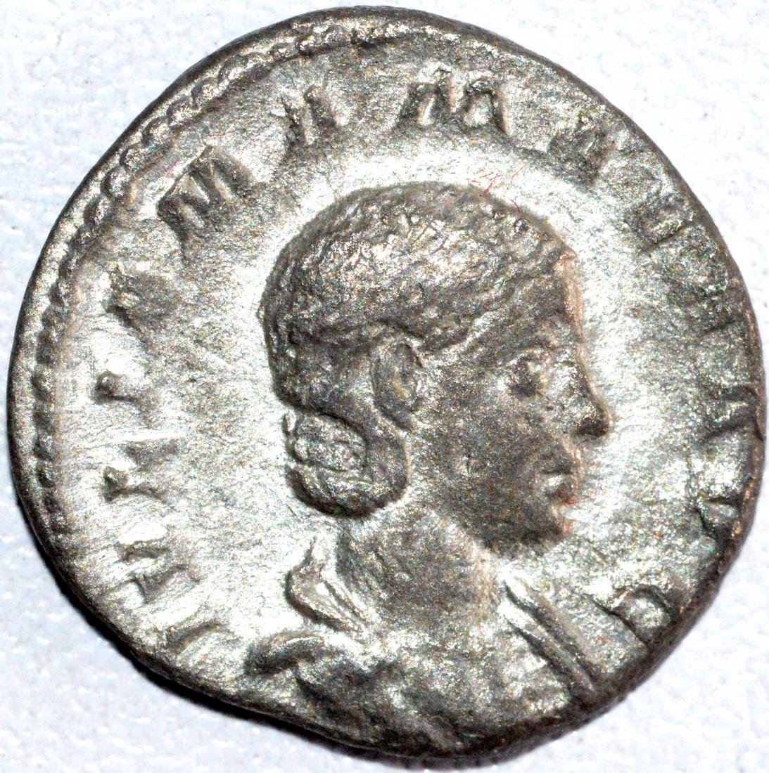 Roman Silver Denarius of Empress Julia Maesa - rv. Juno