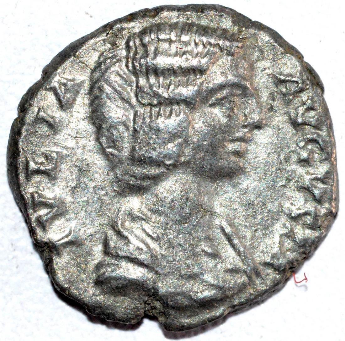 Roman Silver Denarius of Empress Julia Domna - rv.