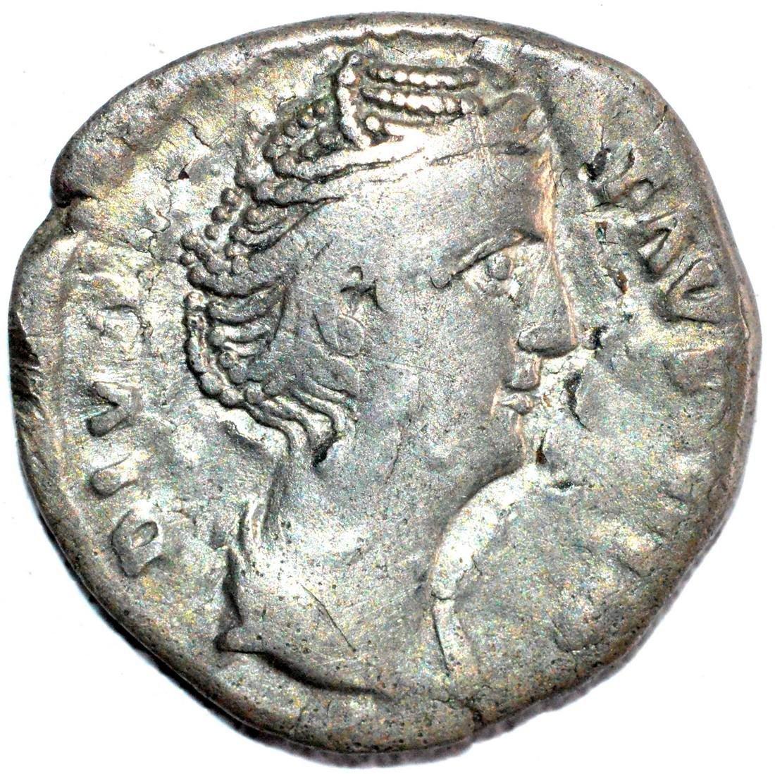 Roman Silver Denarius of Empress Faustina - rv. Avgusta