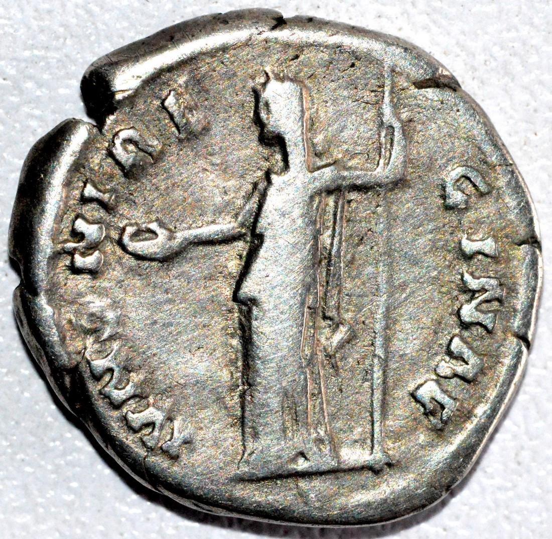 Roman Silver Denarius of Empress Sabina - rv. Juno