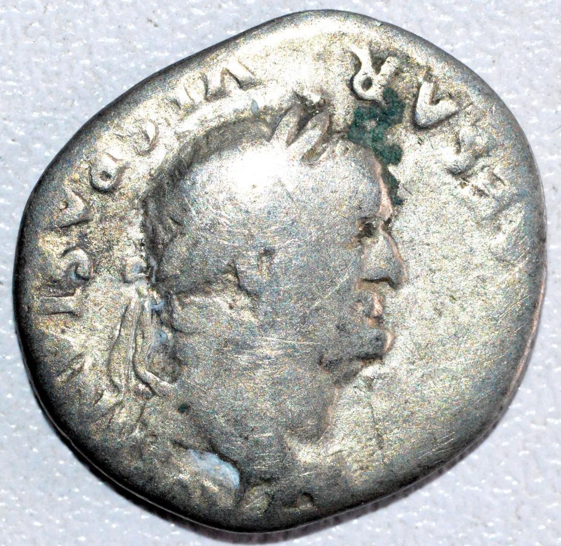 Roman Silver Denarius of Emperor Vespasian rv. Jupiter
