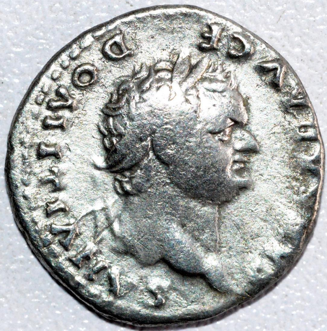 Rare Silver Denarius of Emperor Domitian rv. She Wolf