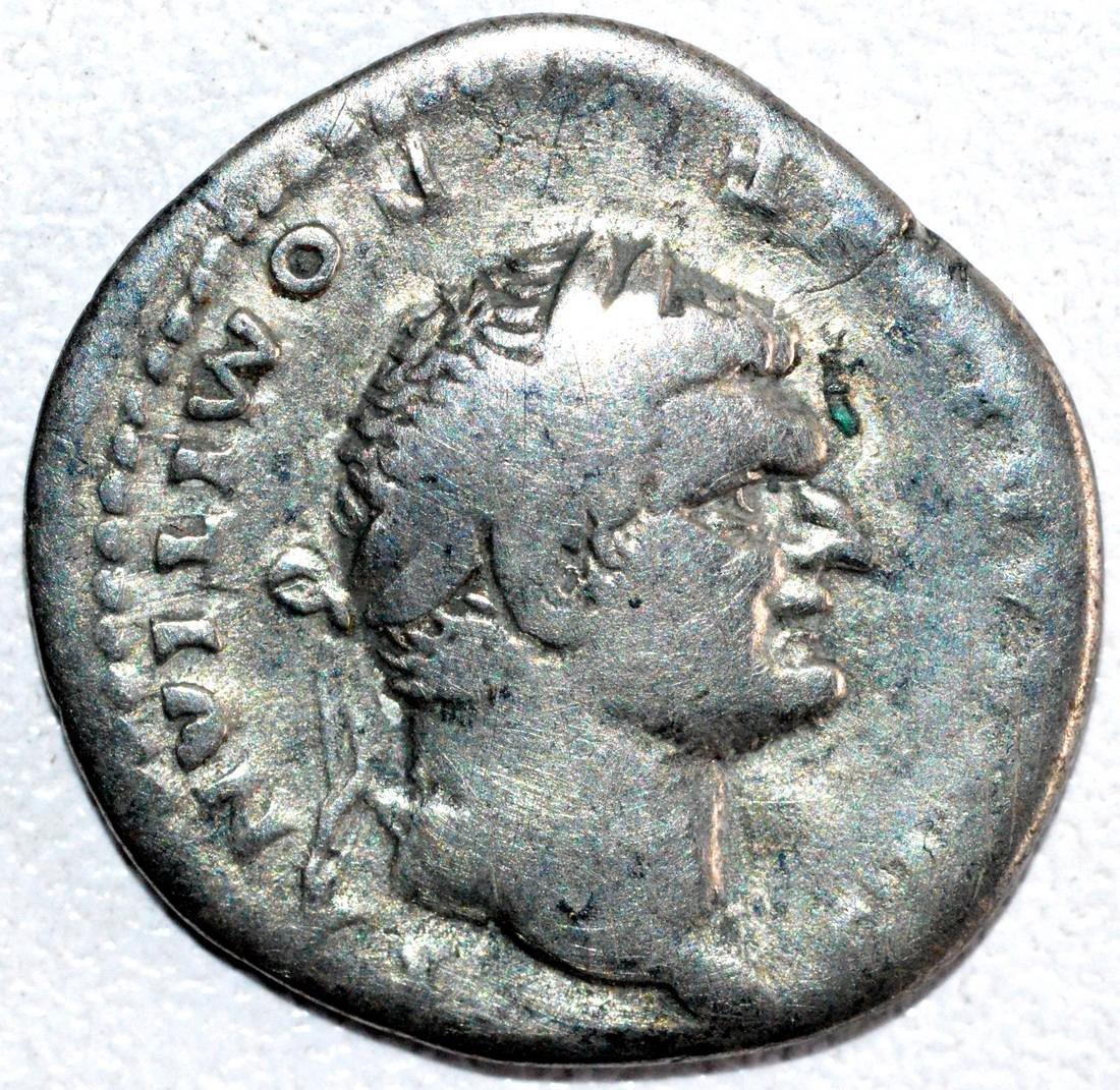 Rare Silver Denarius of Emperor Domitian rv. Pegasus
