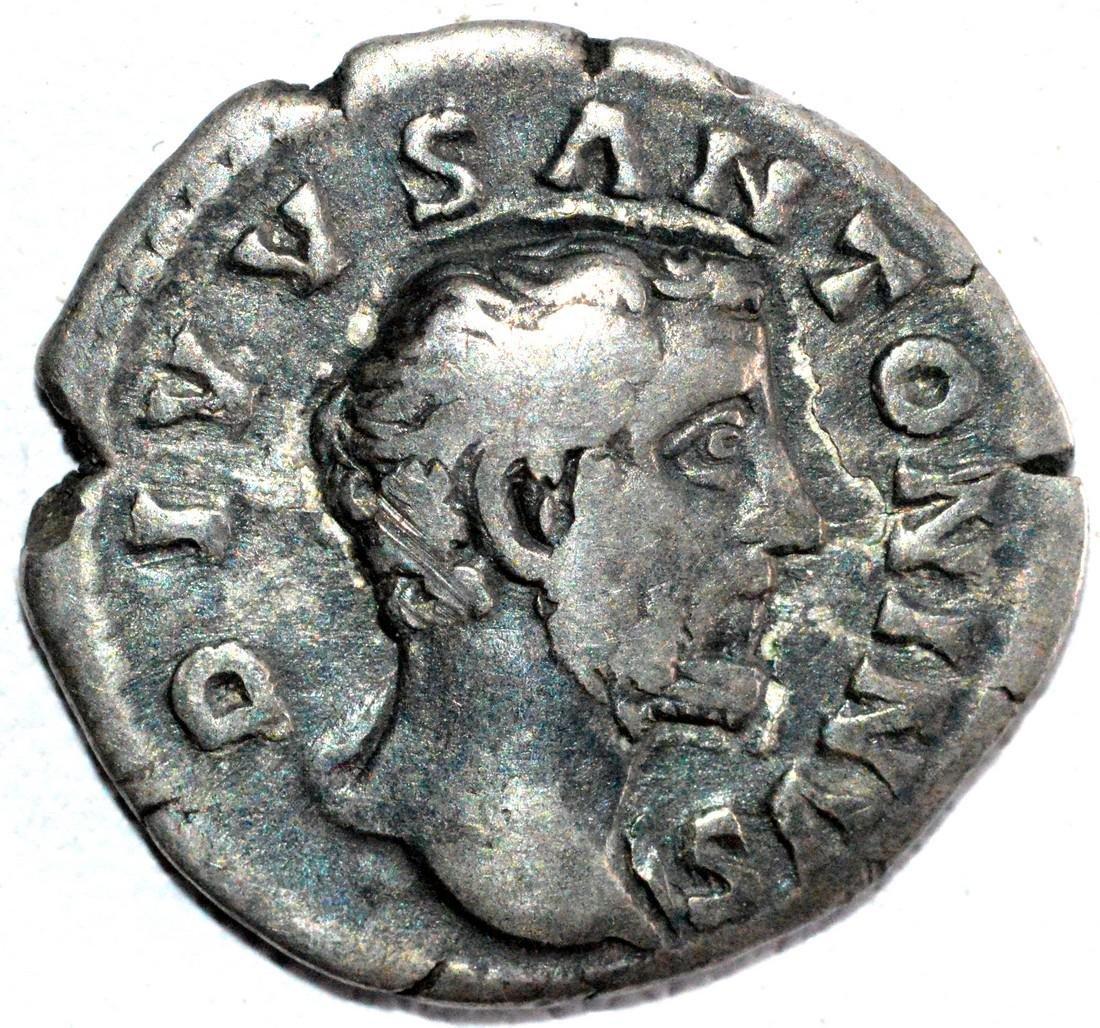 Roman Silver Denarius of Emperor Antoninus Pius