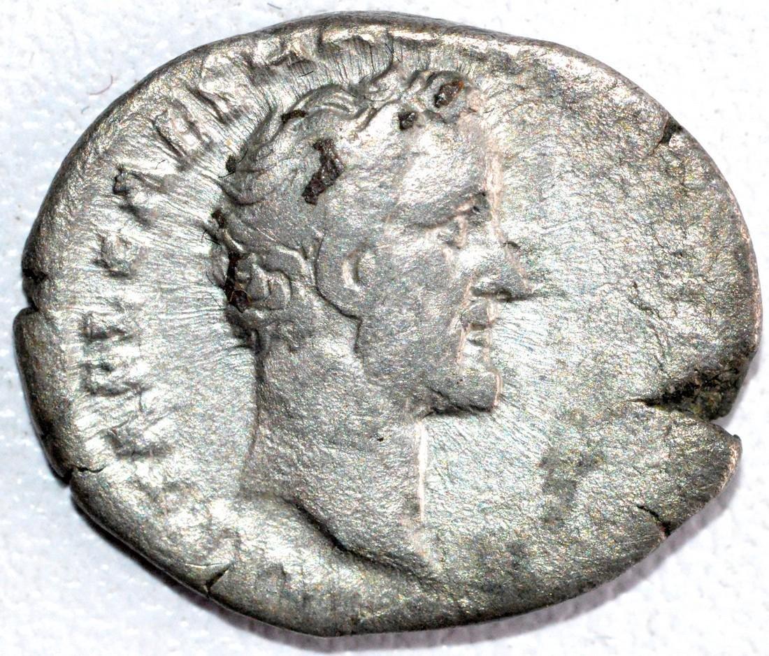 Roman Denarius of Emperor Antoninus Pius rv. Clasped
