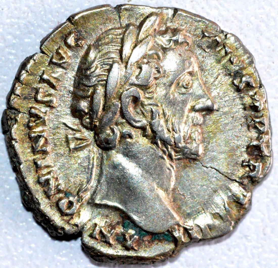 Roman Denarius of Emperor Antoninus Pius - SHARP
