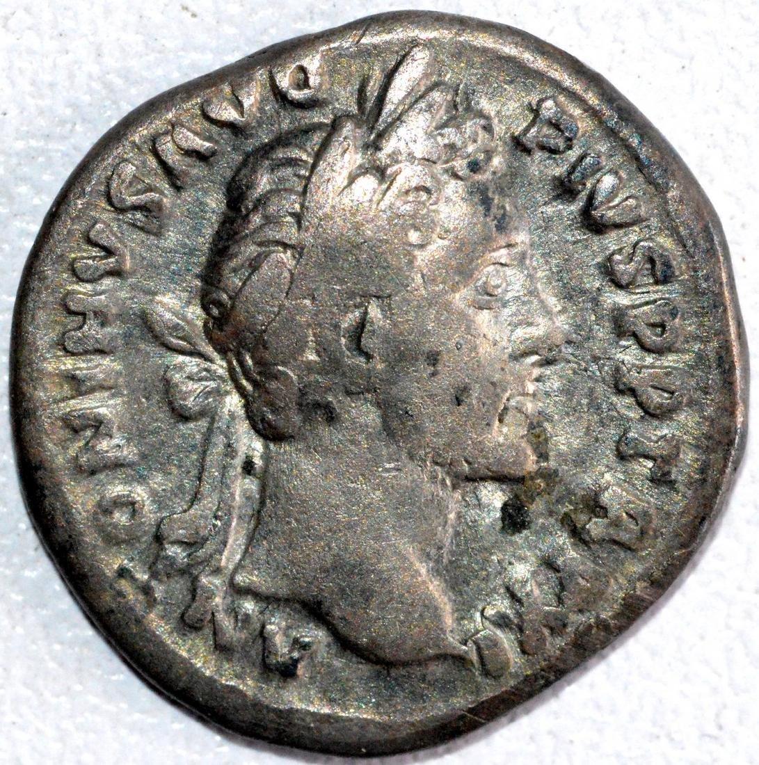 Roman Denarius of Emperor Antoninus Pius - rv. Anonna