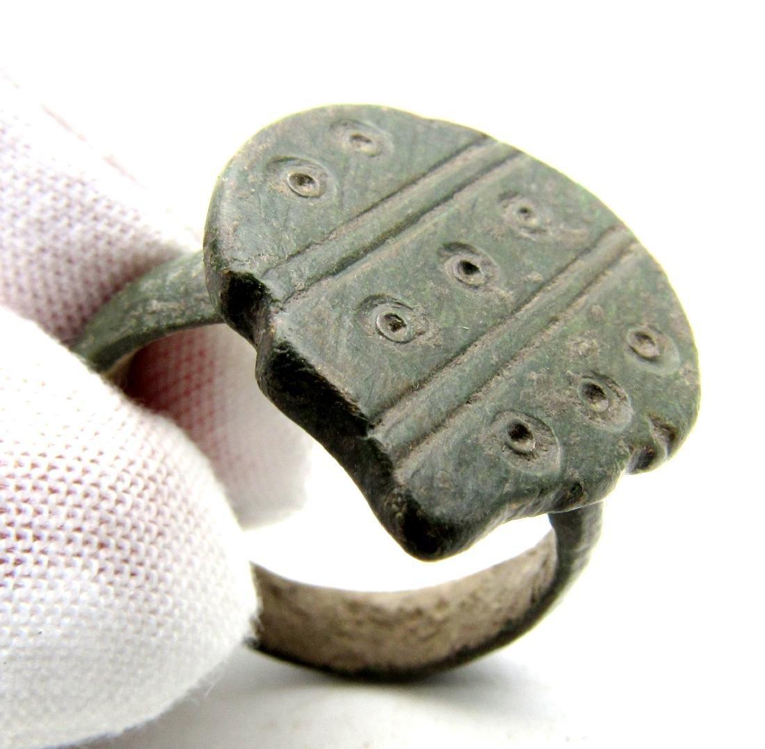 Saxon Era Ring with Evil's Eye Motif