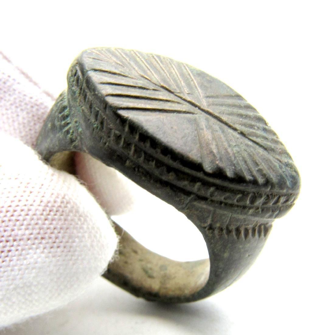Roman Tenth Legion Ring with X symbol on bezel