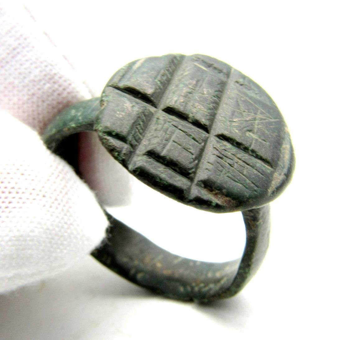 Norman Ring with Decorated Bezel.