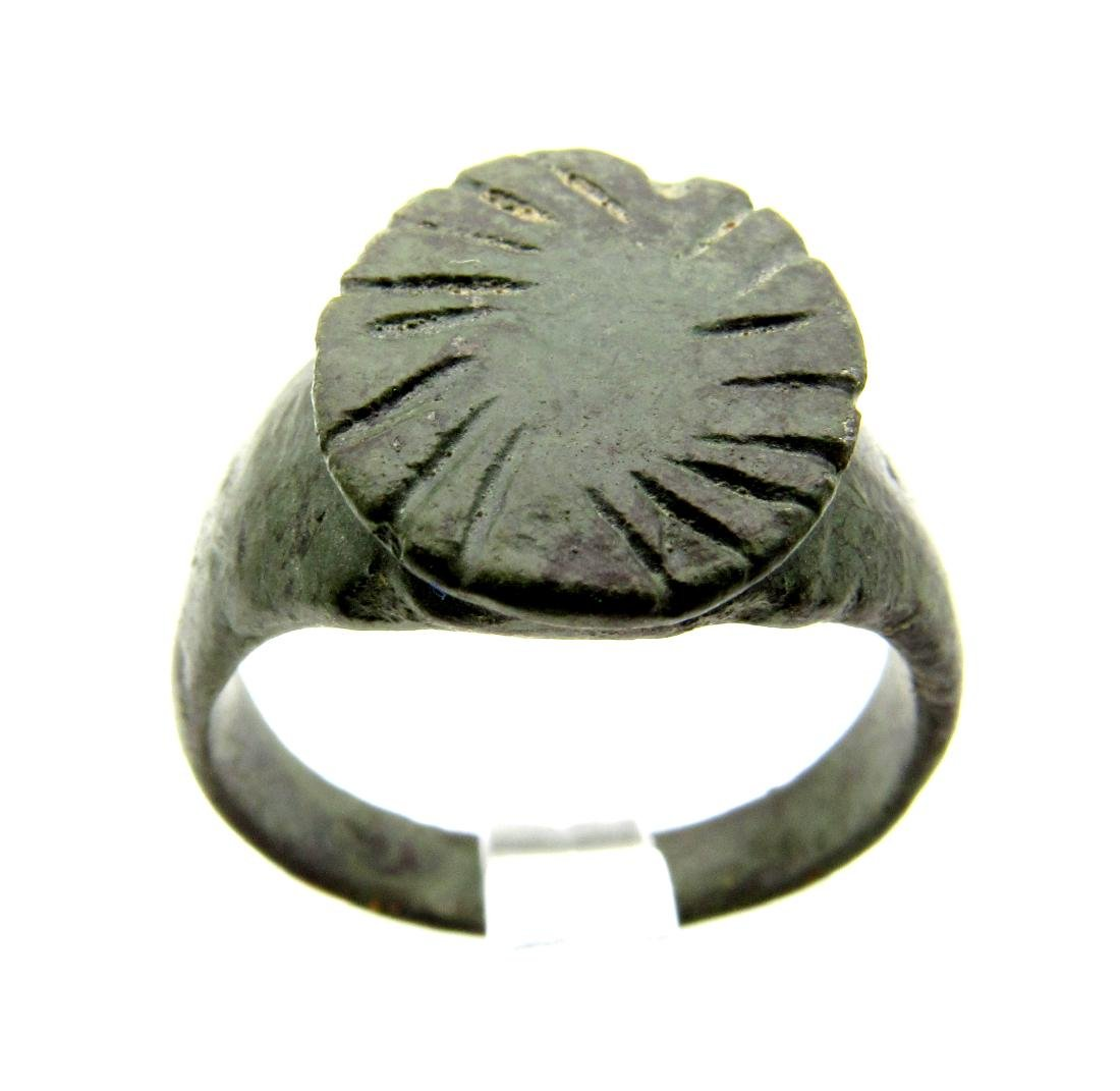 Romano-Celtic Ring with Spiral on Bezel