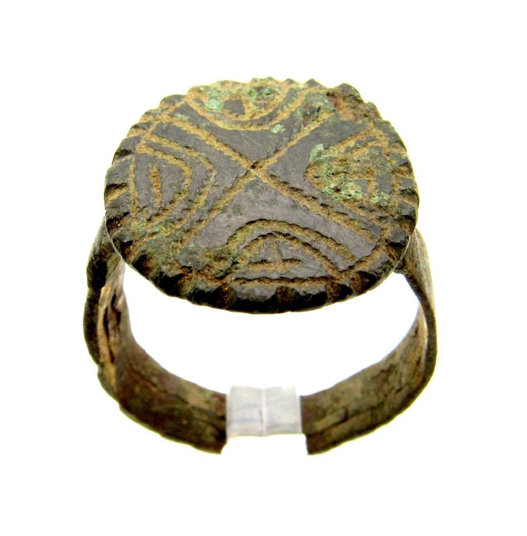 Knights Templar Ring with Holy Cross on Bezel