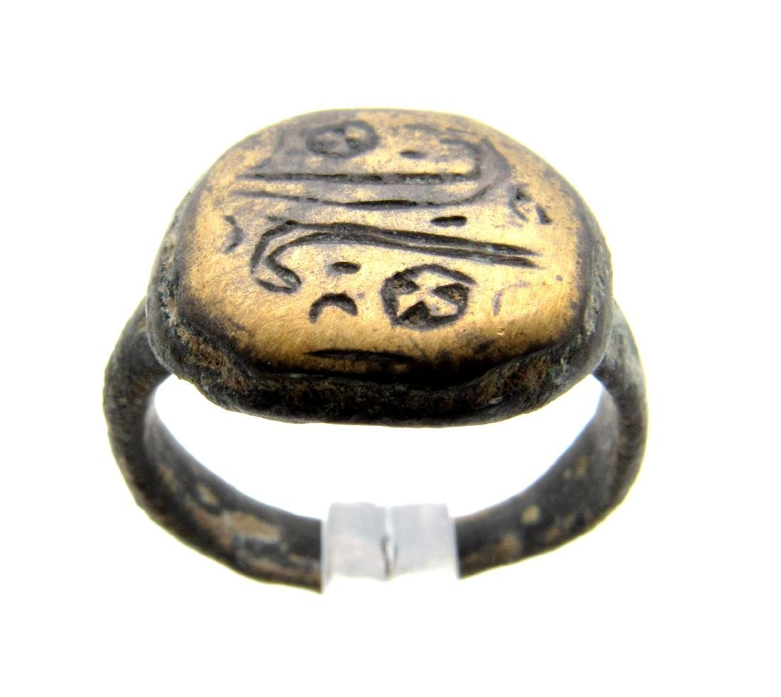 Viking Ring with Runic Symbols