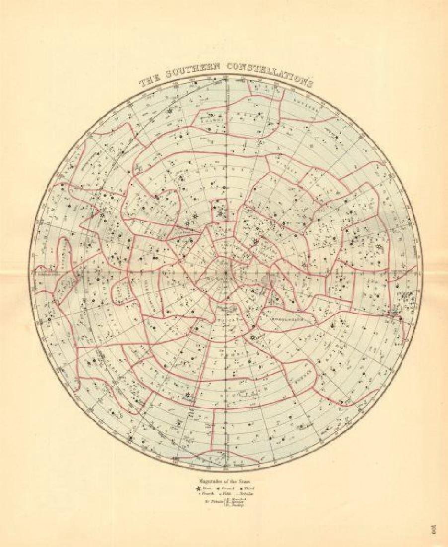 Bartholomew: Antique Star Chart of South Constellations