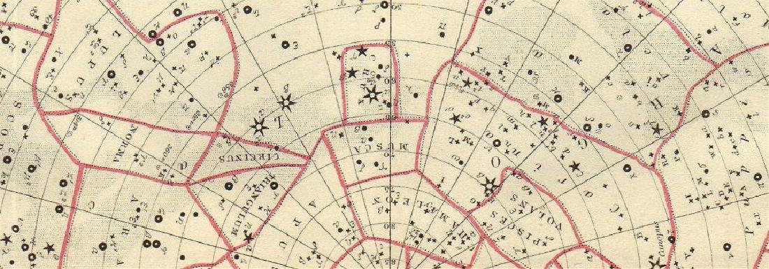 Bartholomew: Antique Star Chart of South Constellations - 2