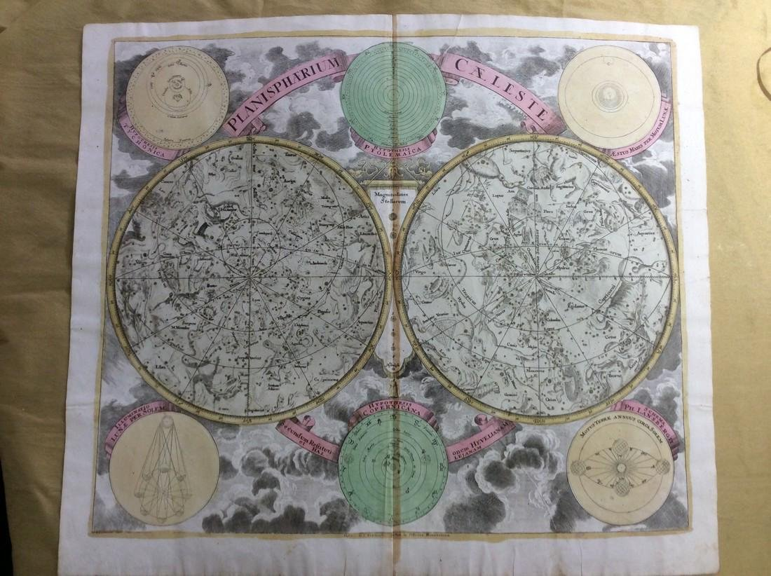 Homann: Antique Celestial Chart of Constellations, 1740