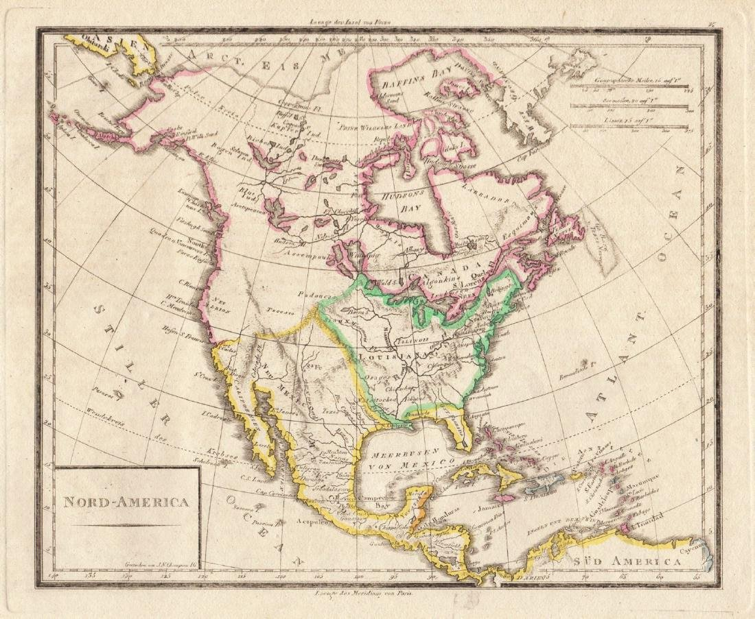 Map Of America 1820.Champion Antique Map Of North America 1820