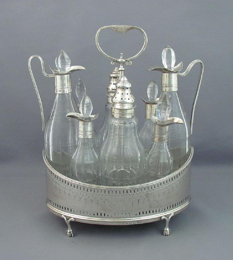 Antique English George III Sterling Silver Cruet Set