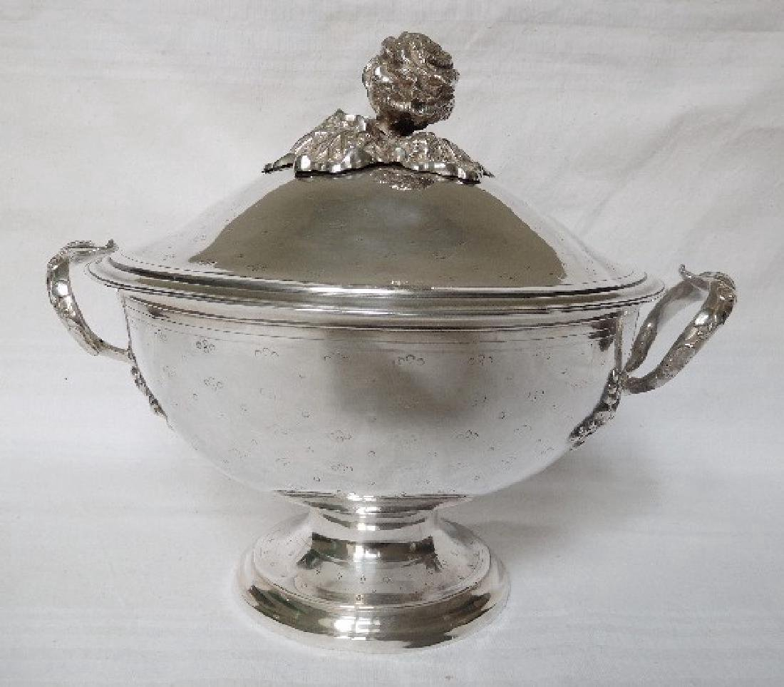 Antique French Napoleon III Sterling Silver Soup Tureen