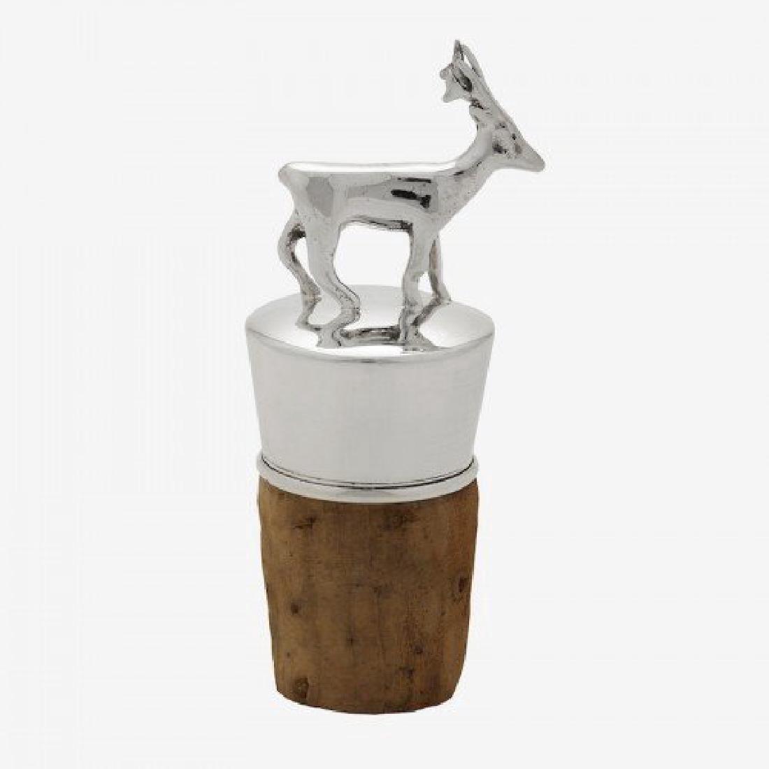 Scottish Sterling Silver Figural Deer Bottle Stopper