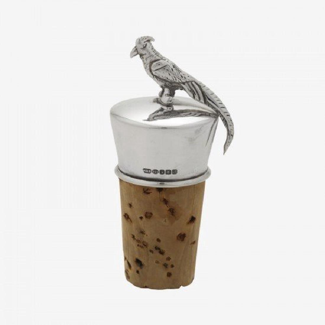 Scottish Silver Figural Pheasant Bottle Stopper