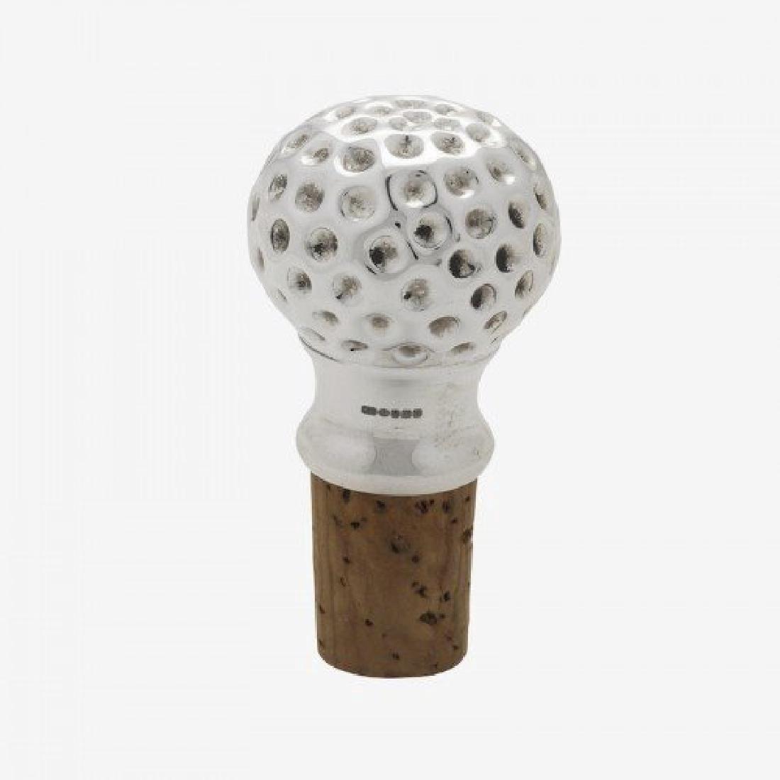 Scottish Sterling Silver Golf Ball Bottle Stopper