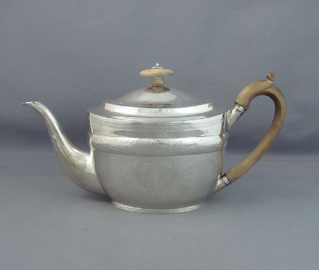 Antique English John Emes George III Silver Teapot