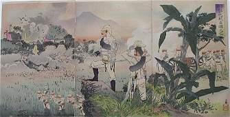 Kobayashi Kiyochika Woodblock SinoJapanese War Battle