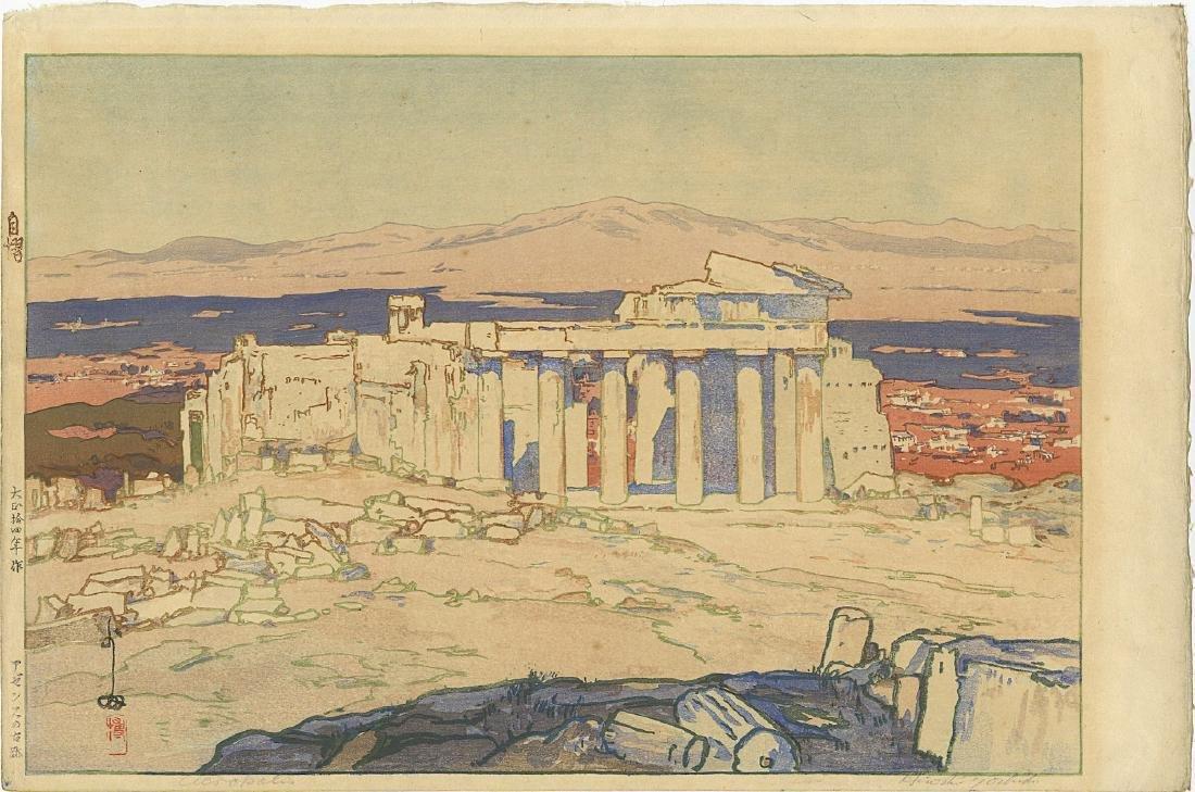 Yoshida Hiroshi Woodblock Ruins of Athens