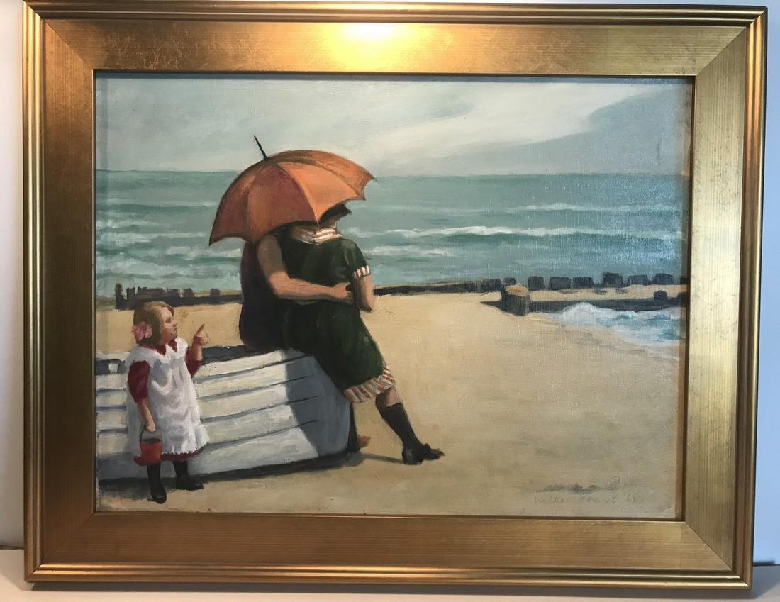 Beach Scene Painting Walker Everett