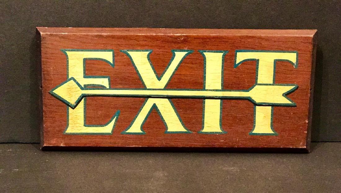 Exit Sign, Circa 1920