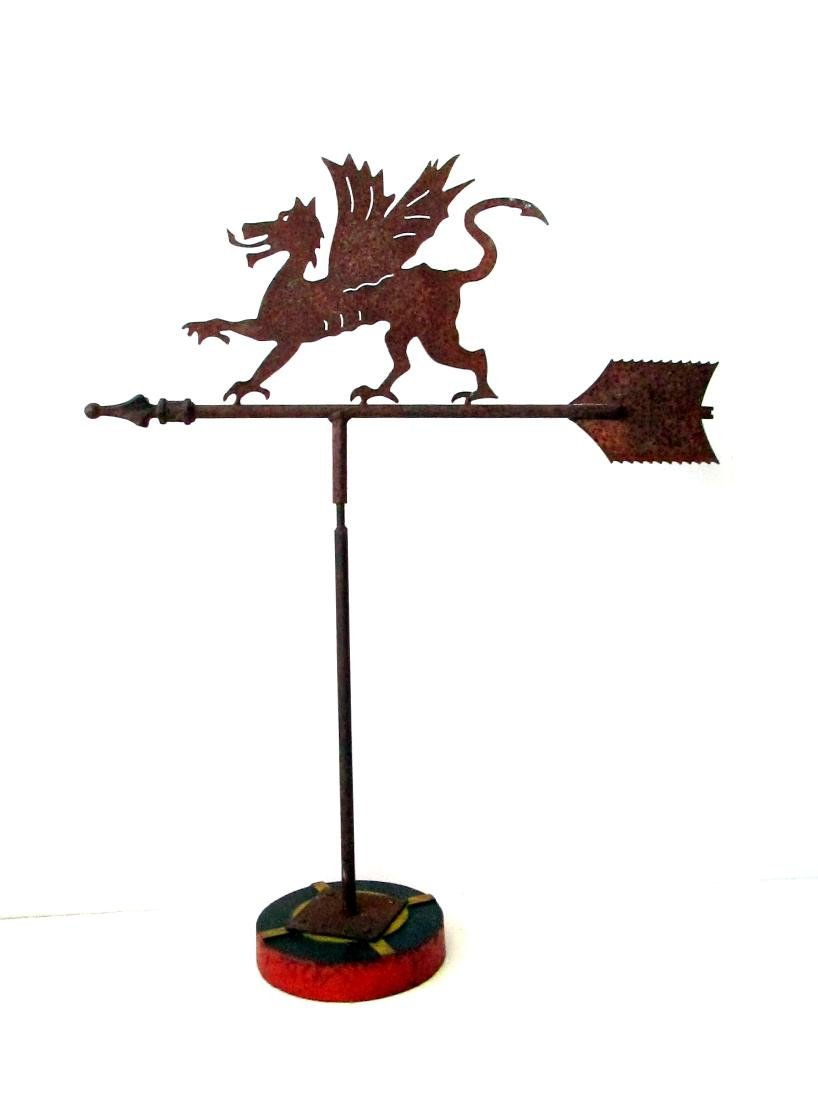 Graphic Winged Griffin Weathervane