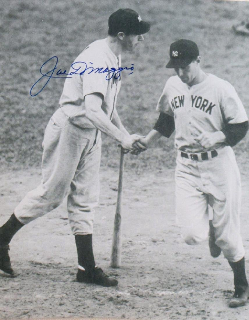 Joe DiMaggio Signing 8X10 Autographed Photo
