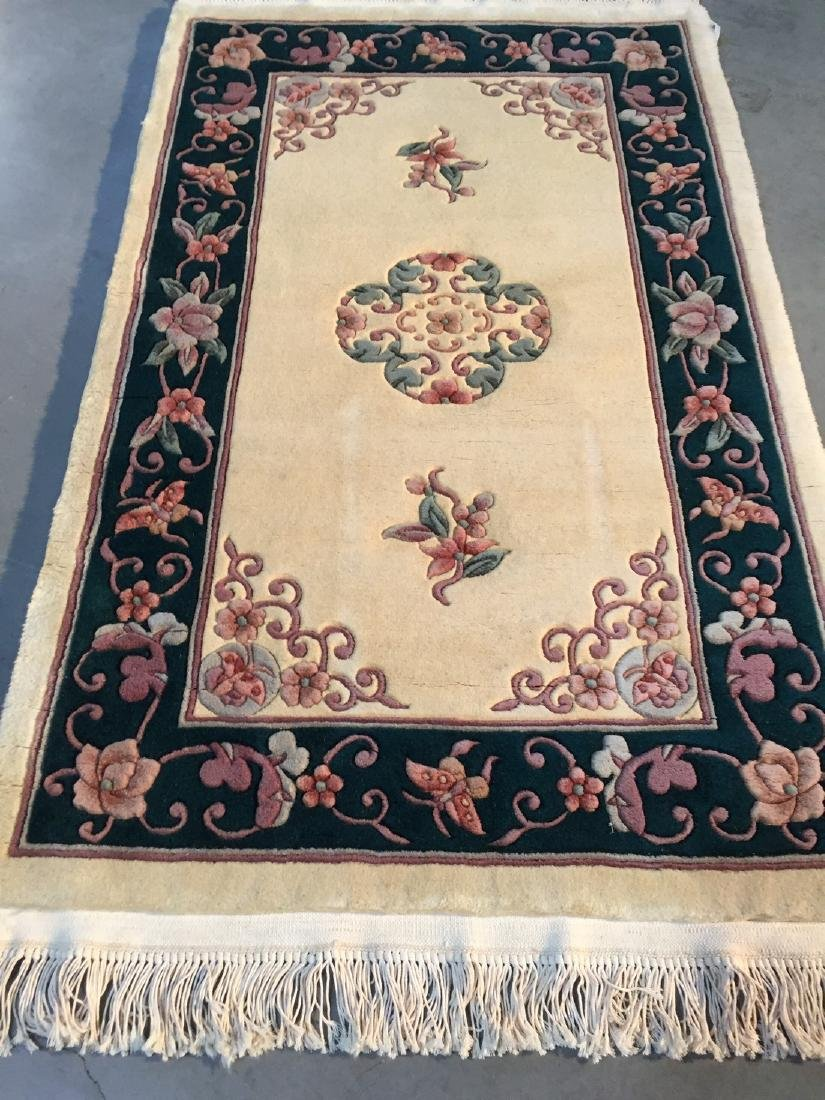 Hand Knotted Carved Chinese Peking Rug 3x5
